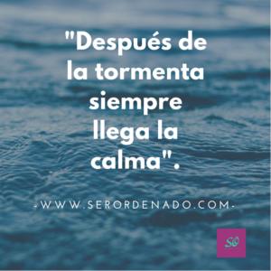 """""""Después de la tormenta siempre llega la calma"""".  El desorden expresa mucho de nosotros, estados de animo, sentimientos y actitudes."""